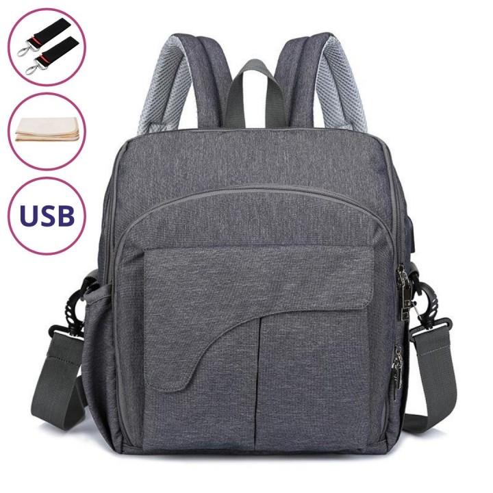 Рюкзак Для Мам Mini Evo (4в1) Темно Серый, 9 л