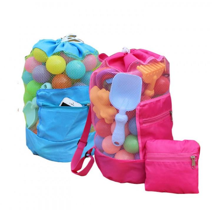 Пляжный рюкзак-сетка для моря, песочницы и игрушек