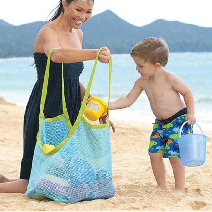 Пляжная сумка-сетка для моря, песочницы и игрушек