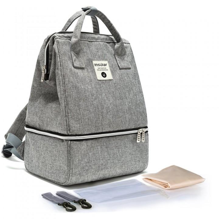 Рюкзак Для Мам Insular Bell Серый