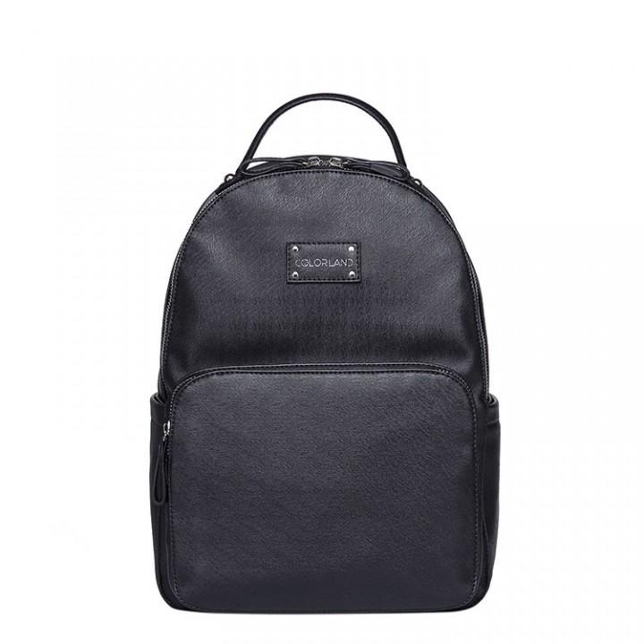 Рюкзак Для Мам изPU-кожи Colorland Черный