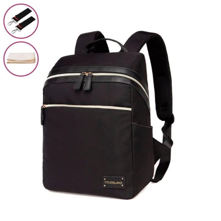 Рюкзак Для Мам с USB Colorland Aida Черный