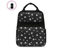 Сумка-Рюкзак Для Мам Disney с USB-подогревом, Черная 20 л