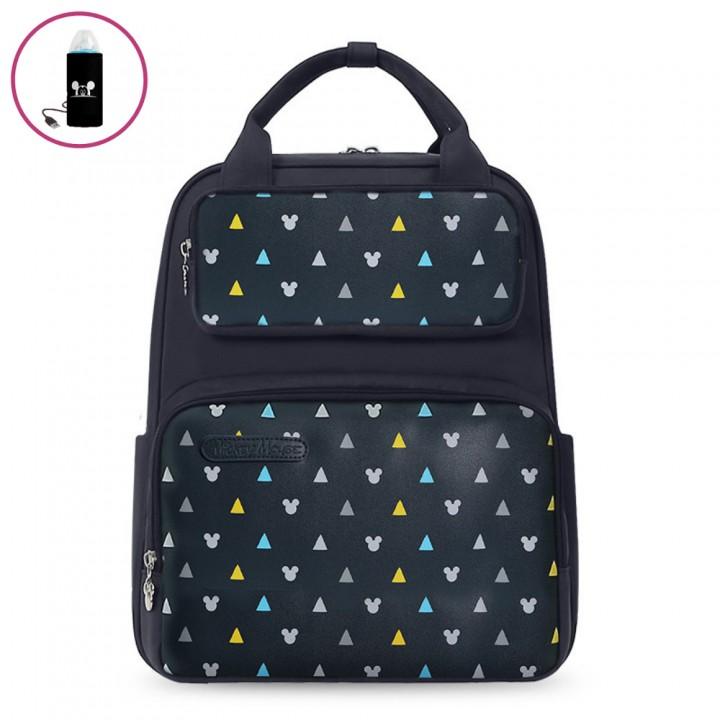 Сумка-Рюкзак Для Мам Disney с USB-подогревом, Синяя 18 л