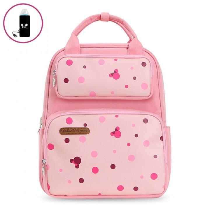 Сумка-Рюкзак Для Мам Disney с USB-подогревом, Розовая 18 л
