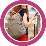 Вместительные размеры сумок и рюкзаков для мам