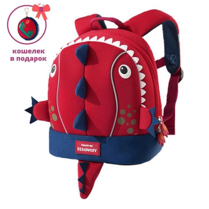 Детский рюкзак Discovery Дино Красный