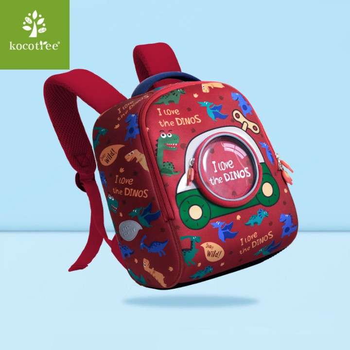Детский рюкзак I LOVE Динозавры Красный