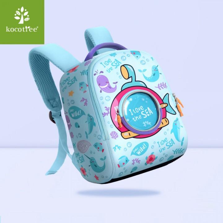 Детский рюкзак I LOVE Морской Голубой