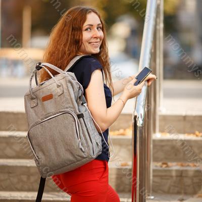 сумка рюкзак для мам для поездок